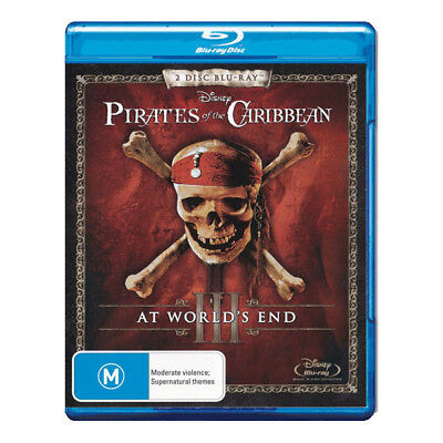 Pirates of the Caribbean 3: At Worlds End Blu-ray New  Johnny Depp Orlando Bloom