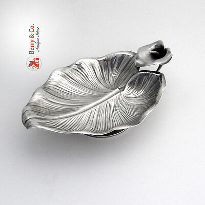 Calla Lily Serving Bowl Whiting Sterling Silver 1880 No Monogram