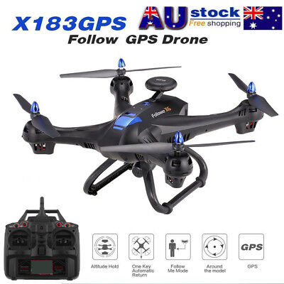 Drone 6-axes X183 With 2MP WiFi HD Camera GPS Brush Quadcopter GU