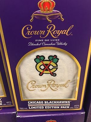 Crown Royal 2017 Chicago Blackhawks Limited Edition Pack Bag & Box New