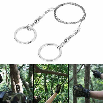 Hiking Camping Pocket Stainless Steel Wire Saw Emergency Travel Survival Gear GU