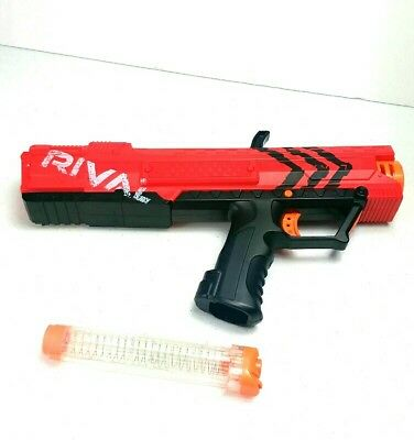 Nerf Rival Red Apollo XV-700 Foam Ball Gun Blaster & Clip Magazine Tube Toy
