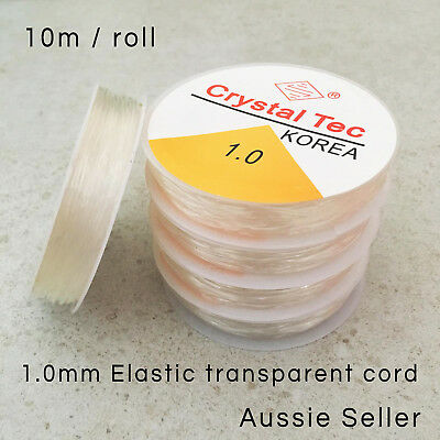 1 roll spool Elastic Stretch Thread Clear String Cord Bead Necklace Bracelet 1.0