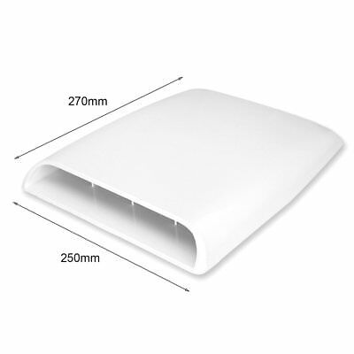 Auto Air 4x4 Flow Intake Hood Scoop Bonnet Decorative Vent Cover Decal White PP
