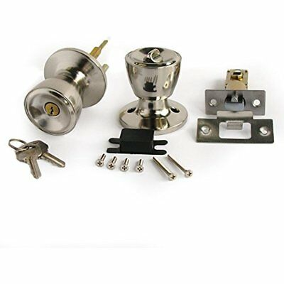 Stainless Color Keyed Entry Rotation Tulip Type Door Knobs Handle Entrance Lock