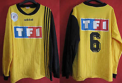Football jersey French Cup yellow TF1 worn No. 6 Adidas Football - XL