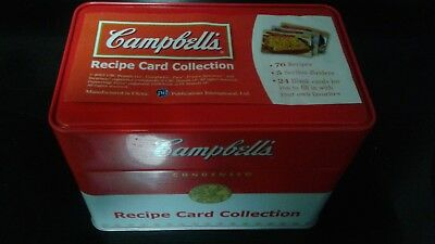 Campbell's Recipe Card Collection Tin Recipe Card Collection