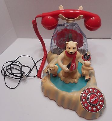 Coca Cola Animated Polar Bear Ice Skate Phone = Works