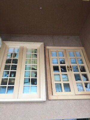 DOLLS HOUSE WINDOWS And Double Door Frames 1/12th - £6.51 | PicClick UK