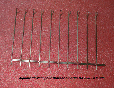 LOT 10 AIGUILLES (11,20cm) MACHINES A TRICOTER ERKA BROTHER KX-390 ou KX-395