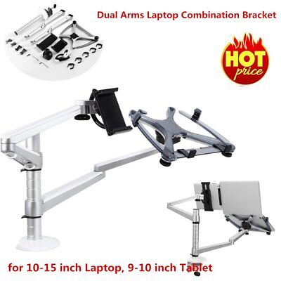 LESHP Dual Arms Laptop Combination Bracket For Laptop Computer Monitors AU