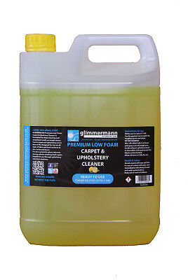 Glimmermann Low Foam Carpet and Upholstery Cleaner Tough Stain Remover 5L