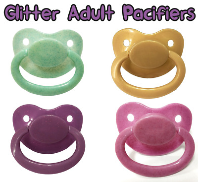 Glitter Adult Pacifier Soother Dummy abdl ddlg ddlb Adult Baby Diaper Lover Kink