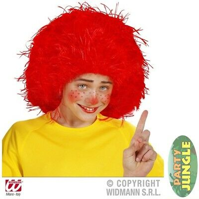CHARACTER BOOK WEEK CLOWN BIG RED WIG Childs Kids Fancy Dress Accessory