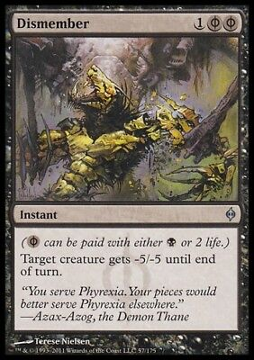 MTG 4x DISMEMBER - New Phyrexia *-5/-5*