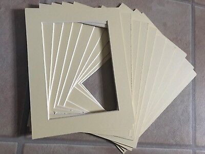 "Pack 10 Cream Picture Photo Mounts 9x7"" Overall for 7x5 inch Photograph Photo"