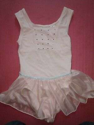 FREESTYLE by DANSKIN Girls Leotard Pink Sleeveless Skirted Dance Size 7/8