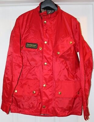 Barbour International Nylon Spring Summer  Jacket New With Tags Red Size L