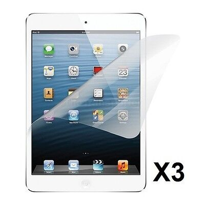3 x CLEAR Screen Protector Case Cover for Apple iPad Mini 3 2 1 Ultra Thin Film