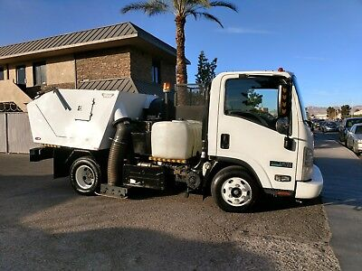 Parking lot Sweeper -Isuzu 12,000 LBS Commercial Sweeper