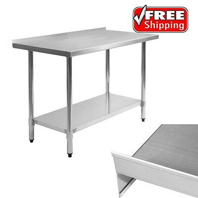 Butcher Food Prep Table w/ Poly Cutting Stainless Steel Top Commercial Equipment