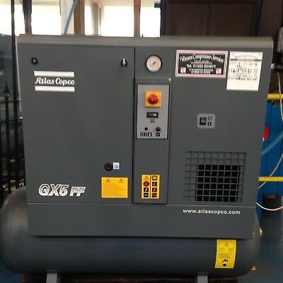 Atlas Copco GX5FF Receiver Mounted Rotary Screw Compressor With Dryer DORSET