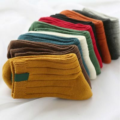 Winter Autumn Solid Color Thick Christmas Warm Stocking Hosiery Socks Cotton