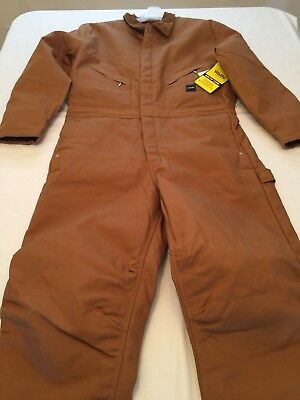NWT Walls Men's Quilted Lined Coveralls Duck Arctic Zone Insulated Variation