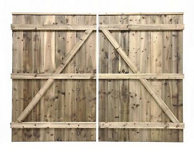 Wooden driveway double gates - Garden drive way gates - Screwed not nailed