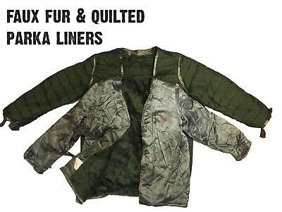 396854954a8 VTG U.S ARMY M51 Military Parka Jacket LINER - PADDED FUR - S M L XL ...