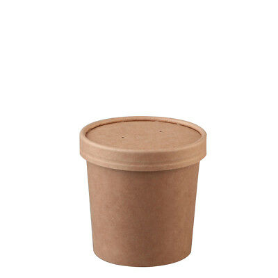 25x Soup Cup with Lid 12oz / 354mL BetaKraft Disposable Hot Food Container NEW