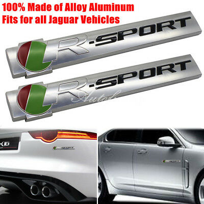 2xMetal R-Sport Racing Trunk Sticker Badge Emblem for Jaguar XF XJ XE XJR F-Type