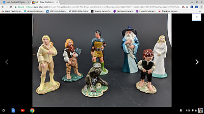 Lot 7 Royal Doulton Lord Of The  Rings Middle Earth Lord Figurines