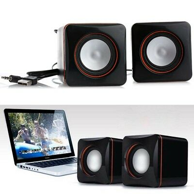 Mini Portable USB Audio Player Music Speaker for iPhone iPad MP3 Laptop PC New