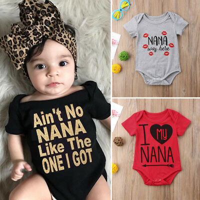 Newborn Baby Girl Boy Jumpsuit Short Sleeve Romper Bodysuit Clothes Outfits 0-2T