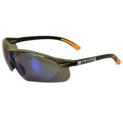Maxisafe Kansas Safety Glasses AS/NZS1337 Anti Scratch Fog Coating Blue Mirror