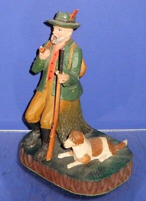 The Best Swiss Hand Carved Incense Burner Smoker Hunter with Rifle & Dog (3of4)