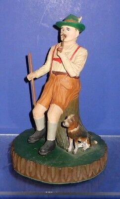 The Best Swiss Hand Carved Incense Burner Smoker Hunter with Pipe & Dog (2of4)