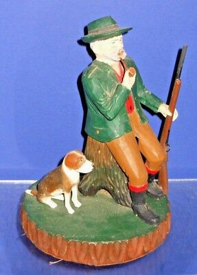 The Best Swiss Hand Carved Incense Burner Smoker Hunter with Rifle & Dog (1of4)