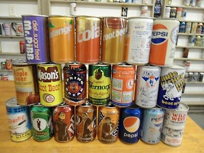 ( Qty 21 ) Misc Soda Cans Lot