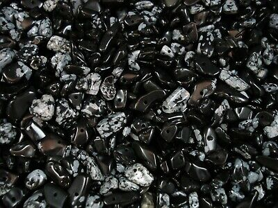 Gemstone Chips 50g Snowflake Obsidian Loose Beads Jewellery Jewelry FREE POSTAGE