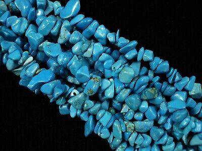 Gemstone Chips Blue Turquoise 80cm Strand Semi Precious Jewellery FREE POSTAGE