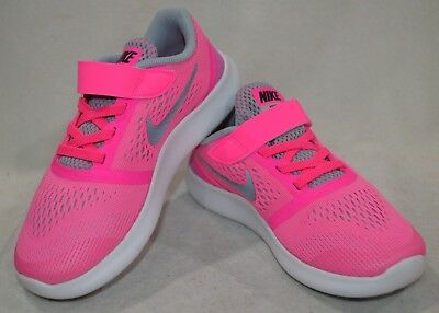 Nike Free RN (PSV) Blast Pink/Silver Girl's Running Shoes - Assorted Sizes NWB