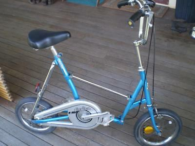 Vintage 1980s Picnica Fold flat bike in as found condition  great space saver