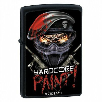 Zippo Lighter - Hardcore Paint Black Matte - ZCI007481