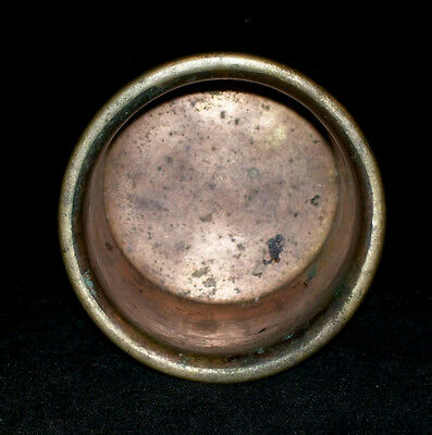 Antique Traditional  Indian Ethnic Bronze Pot For Oil Lamp Rare