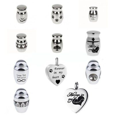 4 Styles Mini Urn Small Cremation Urn Silver Keepsake for Ashes Funeral Urn