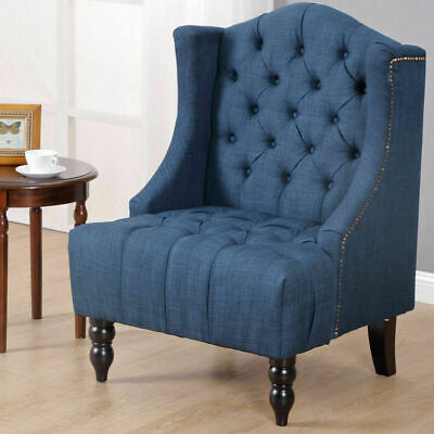 Peachy Wingback Accent Chair Stylish Button Tufted Seat Nailhead Bralicious Painted Fabric Chair Ideas Braliciousco