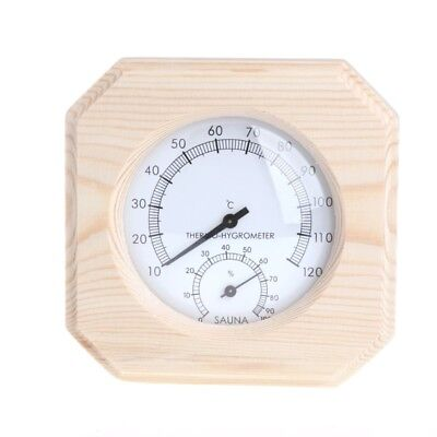 Wood Sauna Room Thermometer Hygrometer Hygrothermograph Temperature Instrument