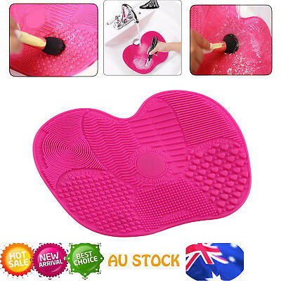 Makeup Cosmetic Brush Cleaner Cleanser Silicone Washing Mat Pad Scrubber Board